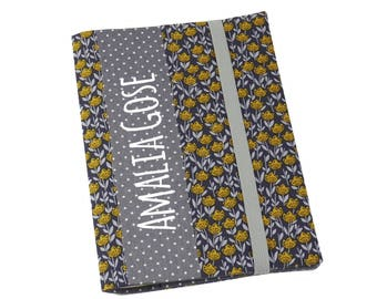 """Cover A5 """"Petite Fleur"""", for notebook, daily planner, journal or exercise book"""