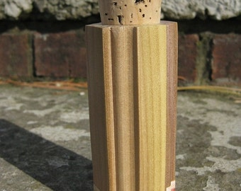 Wooden jar corked made from poplar and cedar