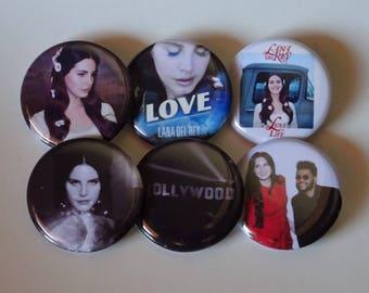 "1.25"" Lana Del Rey Pinback Pack Pins Buttons Badges"