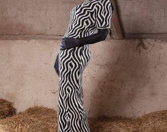 kleid maxikleid maxidress maxi winter zebra zirkus elegant ausgefallen party festival gothic
