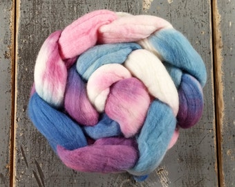 Merino Hand Dyed Roving (Combed Top) Hand Painted 4 oz - Sugar Plum