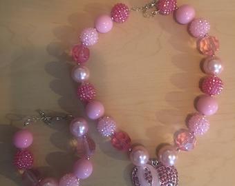 Cancer Awareness necklace set