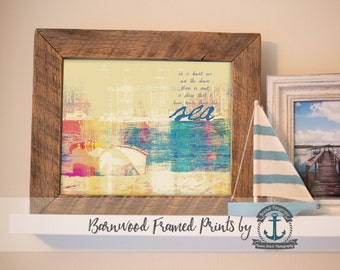 Sea Poetry - Reclaimed Barnwood Framed Print - Ready to Hang - Sizes at Dropdown