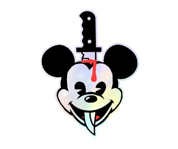 Disnee Weird Mickee - Holographic Vinyl Sticker