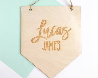 Personalized Baby Name Plaque, Nursery Wall Decor, Wood Baby Name Sign, Kids Room Decor, Kids Bedroom Decor, Custom Name Plaque