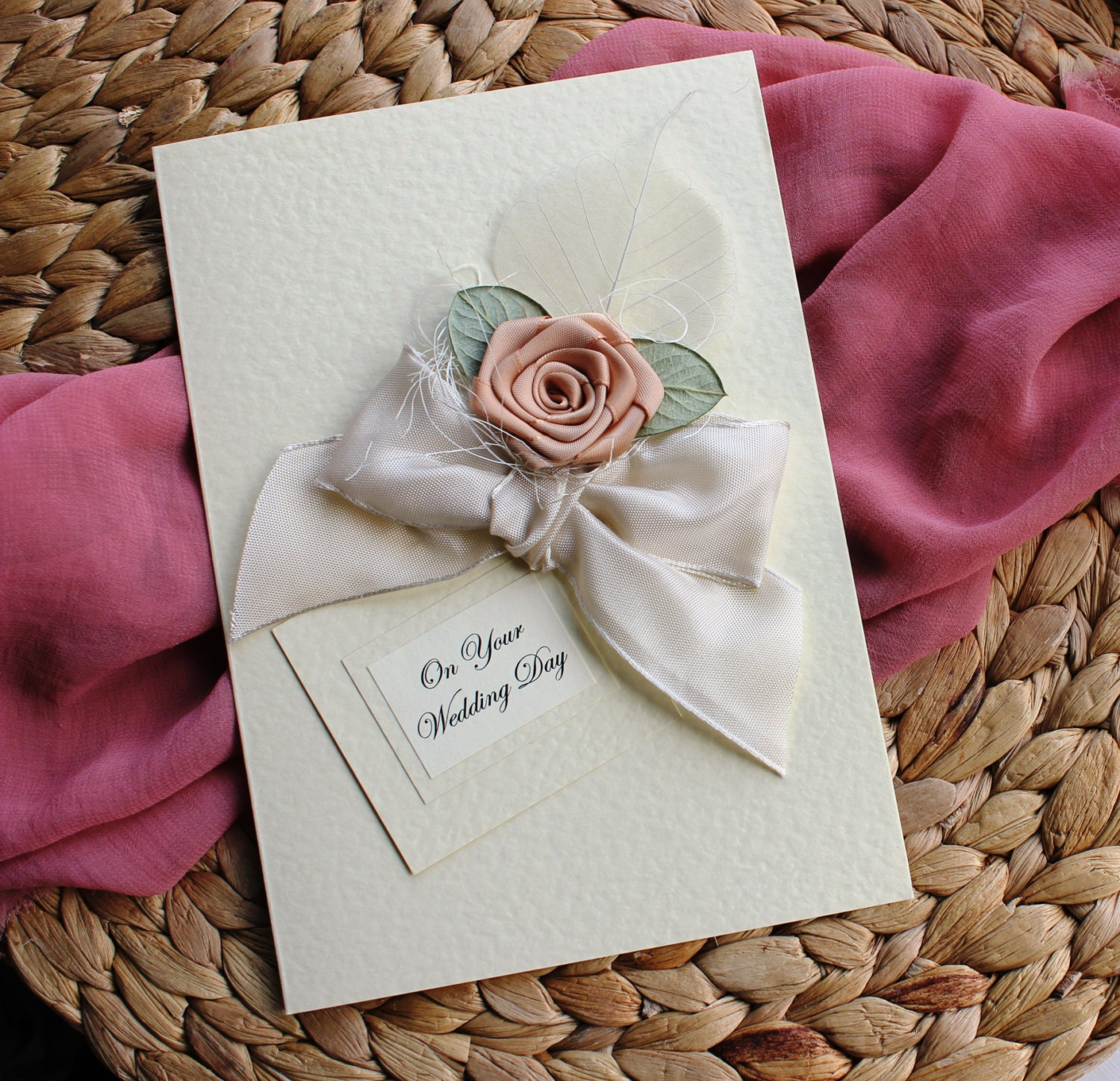 Personalised Wedding Card Daughter and Son In Law on Your