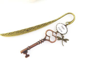 """super girlfriend""key to happiness bookmark"