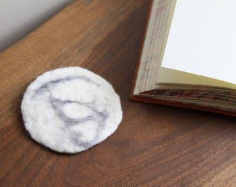 100% Wool Felt Marble Coaster