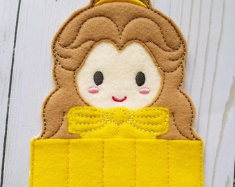 Princess Belle Inspired Crayon Holder