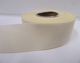 Grosgrain Ribbon 3mm, 6mm 10mm 16mm 22mm 38mm 50mm Rolls, Ivory, 2, 10, 20 or 50 metres, Ribbed Double sided,