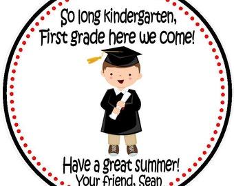 Kindergarten Graduation Tags - Boys (DIGITAL FILE) - Preschool Graduation Favors - Graduation Favors For Kids - Printable Graduation Kids