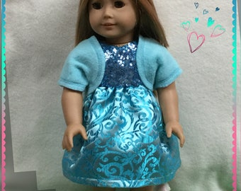 """American Girl 18"""" Doll Clothes Easter Best teal"""