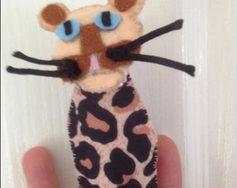 Tommy Tiger is an original design handmade Finger Puppet - Order Your Version of Tommy today!
