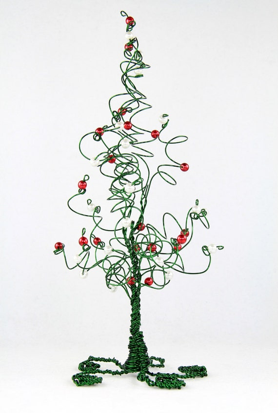 Christmas Tree Evergreen Wire Tree Wedding Cake Topper Centerpiece or Home  Decor Sculpture