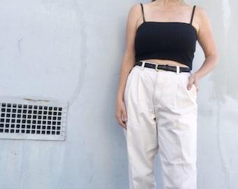 High waisted pleated pants, 90s khaki pants, chino trousers, classic Gap cotton pants