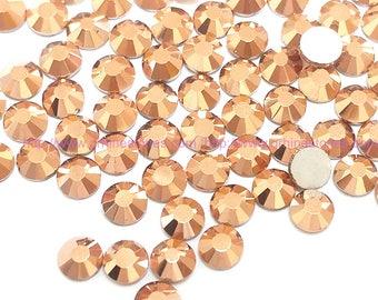 Metallic Rose Gold Rhinestone 144pcs FlatBack Crystal Non Hotfix