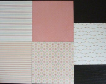 set of 5 sheets 15 x 15 cm: geometric