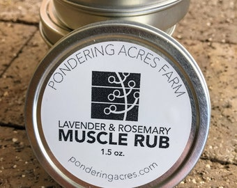 Lavender & Rosemary Muscle Rub. Handcrafted. All Natural.