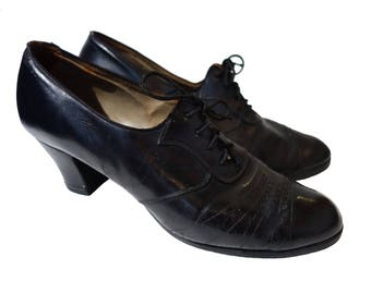 SOLD 1930s Black Leather Shoes