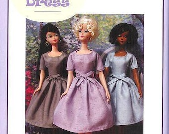 "PDF Instant download Pattern ""BASIC DRESS"" for Barbie "" by Marirose! complete from book ""Vintage Clothing for the Fashion Doll"""