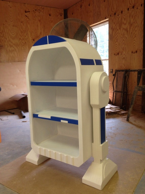 Star Wars R2D2 Droid styled bookshelf storage unit