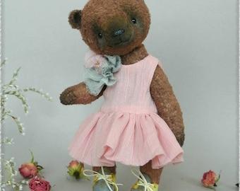 Bear teddy Judi Stuffed, vintage, OOAK