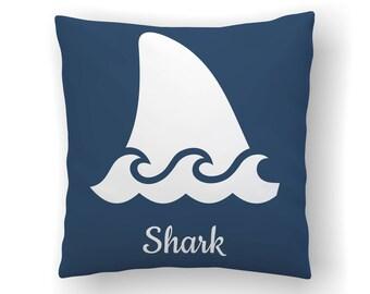 Shark Pillow, Surfing Decor, Kids Shark Decor, Beach Nursery, Kids Pillows, Surfer Baby Throw Pillow Covers, Shark Room Decor, Ocean Decor