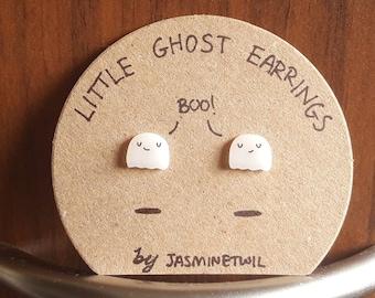 Little Ghost Earrings- Handmade shrink plastic jewellery
