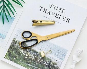 Brass Scissors,Simple Style Scissors,Craft Scissors,Sewing Scissors,Paper Scissors