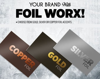 gold foil business cards / thick business cards / gold business cards / copper foil business cards / silver foil
