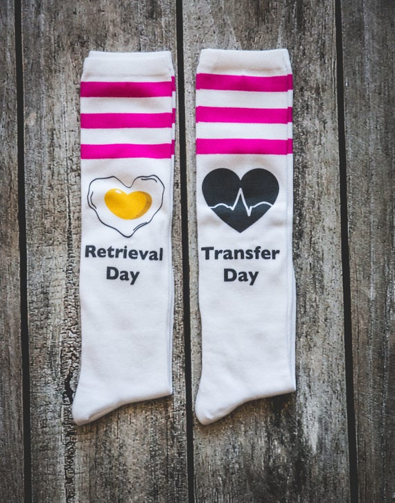 Combo Infertility Socks Retrieval and Transfer Day, Infertility, IVF, IVF Socks