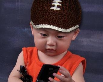 Football Cap, Baseball Cap - Newborn, Baby, Toddler, INSTANT DOWNLOAD Crochet Pattern