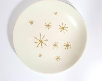 vintage mid century star glow dinner plate - royal china