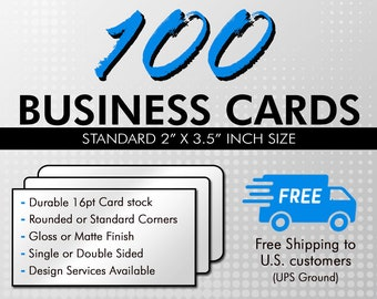 Matte business card etsy 100 business cards business card printing durable 16pt uv gloss or matte finish standard or rounded corners shipped directly to you colourmoves