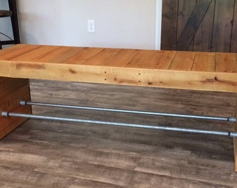 Reclaimed Rustic Industrial Pallet Bench