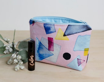 Essential oil bag. Mother's Day oil gift. Roller bottle bag. Oil storage. Essential oil travel bag. Oil zipper pouch. Watercolour oil pouch