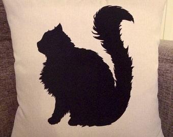 Personalised Fluffy Cat Cushion