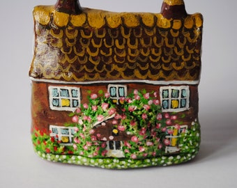 Enchanting English Rose Cottage Sculpture