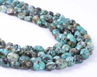 0514 Natural African turquoise Pebble Chips loose gemstone beads 16""