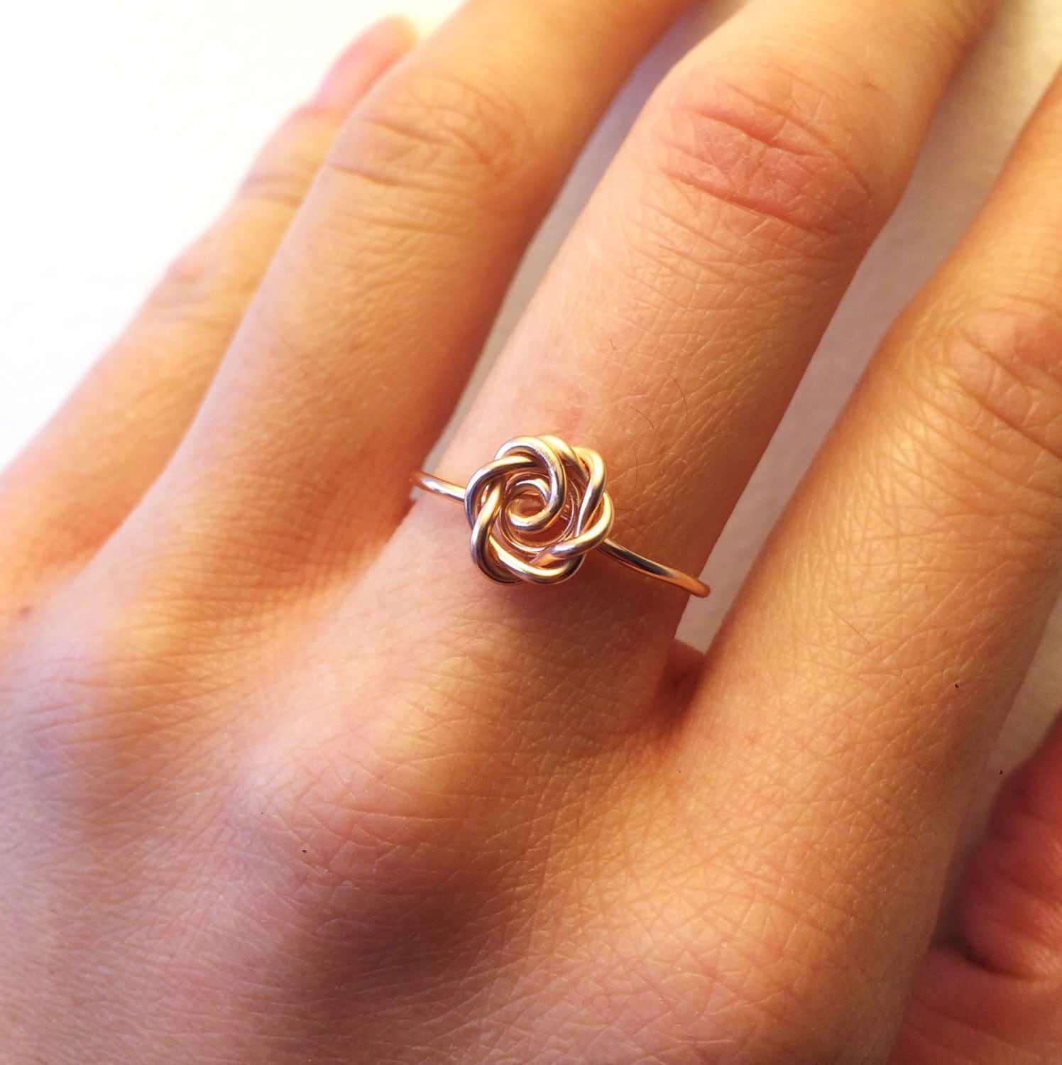 Rose Ring Rose Gold 14K Gold-Filled /Sterling Silver Wire