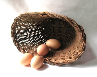 Vintage Gathering Basket - Handmade-NewEngland Farmhouse Style