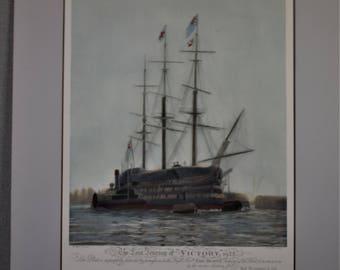 Vintage Print Journey of Victory Ship 1922 Print