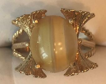 Genuine Onyx Stone Vintage Ring