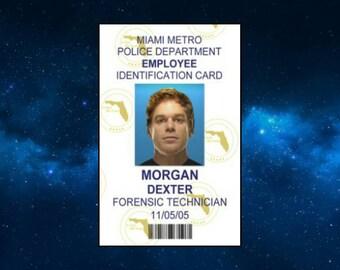Dexter Morgan ID Card Fridge Magnet. Humour, Gift Idea. Inspired by Dexter