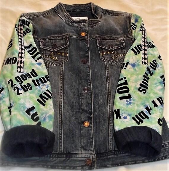Refurbished Denim Girls Jacket, Size  10/12