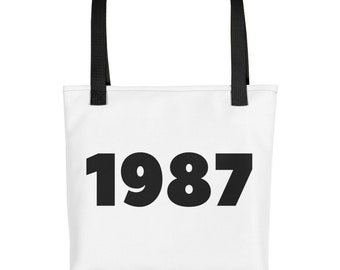 Born In 1987 Back In 1987 Remember 1987 Sign What Happened 1987 Vintage 1987 Flashback 1987 Awesome Since 1987 Reunion Gift Tote bag