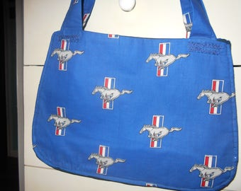 Purse/bag Blue Mustang Logo
