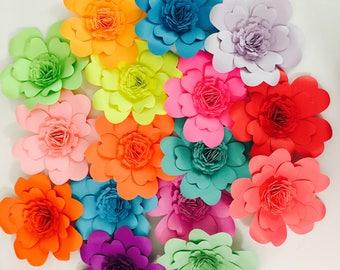Multicolor Mini Paper Flowers