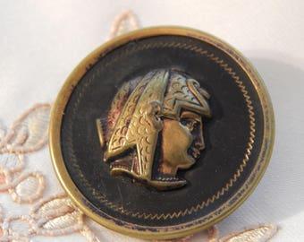 Egyptian Queen Profile Antique Button Large Size