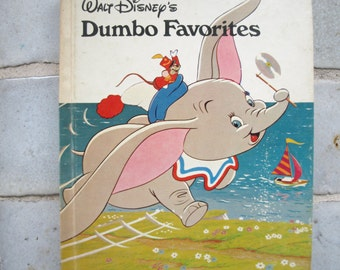 Vintage Walt Disney's Dumbo Favorites Children's Book 1973 Danbury Press